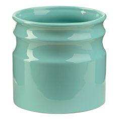 Turino Aqua Ceramic Utensil Holder | Kirklands