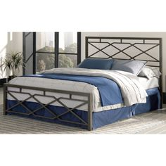 Fashion Bed Group Alpine Metal Sn@p Bed, Size: Queen - B41165