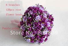 Free shipping! 126pieces/lot Simulation Flowers Wedding Bouquet Bridal Bouquet