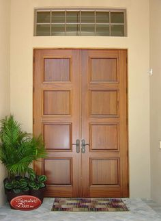 Double 4 panel doors 4 Panel Doors, Custom Wood Doors, Tall Cabinet Storage, Furniture, Home Decor, Interior Design, Home Interior Design, Arredamento, Home Decoration