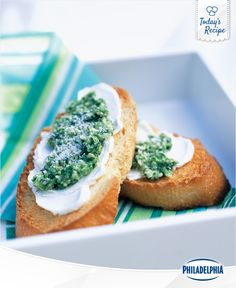 Unexpected guests coming over this weekend? No sweat! You can whip up this Pesto Crostini recipe in a flash.
