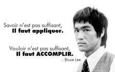 Citation de Bruce Lee …