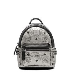 8d48d4f622dcd MCM X-Mini Stark Side Odeon Studded Backpack In Silver