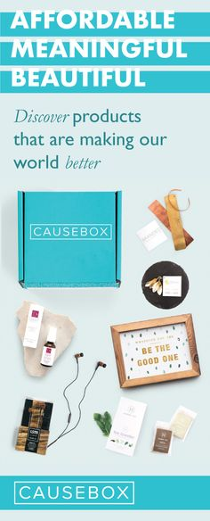 CAUSEBOX is the best way to discover brands with purpose. Join today and get our Welcome Box! The Winter and Spring boxes sold out immediately — and only limited memberships are available each season!