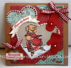 Snoesje skating card by Blankina Christmas Cards, Christmas Ornaments, 3d Cards, Marianne Design, Copics, Skating, Advent Calendar, Daisy, Just For You