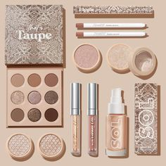 Full Makeup, Soft Makeup, Glam Makeup, Makeup Inspo, Eye Makeup, Drugstore Eyeshadow Palette, Taupe Eyeshadow, Makeup List, Makeup News