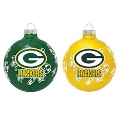 Green Bay Packers Glass Ornament Set Got these too!