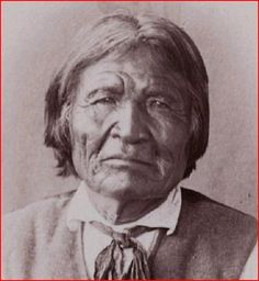 Old Nana, c.1800-1896 - The famous Apache Chief, who in 1880, at over age 70, was fighting and leading Geronimo and Naiche in battles. He was a nephew of Delgadito, and married a sister of Geronimo. Nana was often with Victorio in his many battles. He fought as a warrior well into his 80s. - www.aaanativearts... --- Close up of photo by Reed & Wallace, 1889.