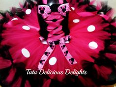 Hey, I found this really awesome Etsy listing at https://www.etsy.com/listing/100102761/minnie-mouse-hot-pink-and-black-with