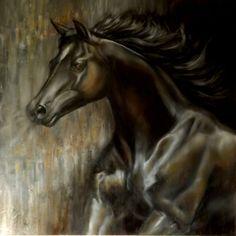 Le cheval noir- grand format