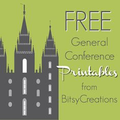 Request free printables from BitsyCreations to be made from your favorite LDS General Conference talks.