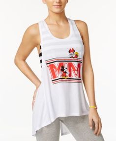 Disney Juniors' Mickey & Minnie Layered-Look Graphic Tank Top