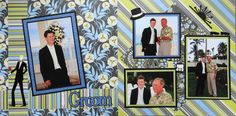 Scrapbook Page - The Groom - 2 page wedding layout - from Wedding Album 2