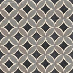 Cement Tile Shop - Encaustic Cement Tile Circle II Black