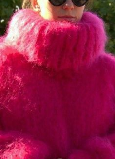 Thick Sweaters, Women's Sweaters, Red T, Mohair Sweater, Cozy, Girls, Clothing, Pink, Dress