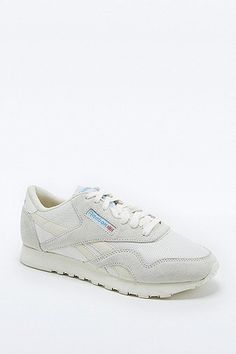 a1d417ef9f78 Shop Reebok Classic White Nylon Vintage Runner Trainers at Urban Outfitters  today.