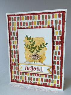Hello Fall!  Stampin Up For All Things Stamp Set and Color Me Autumn DSP by #lepapierpalette