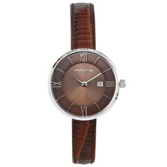 Dames horloge PRISMA PURIFY LEATHER BROWN Prisma ladies watch Details: Model – P.1537 Sexe – Lady Movement – VX89 with date Case size – 30 mm Case thickness – 7 mm Band – 10 mm Water resist – 30 meter Material – All Stainless Steel