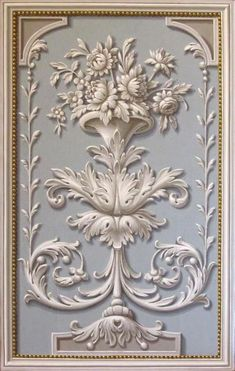 Baroque frame stucco 3D Model