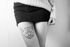 geometric animal tattoos - Google Search