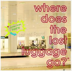 Where Does the Lost Luggage Go? an EcoGoodz blog post