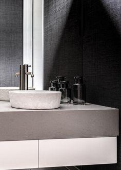 Fendalton Residence III by Lume Design - Bathroom NZ | #bathroominspiration #bathroominteriordesign #bathroomsnz Lush Green, Bathroom Interior Design, Bathroom Inspiration, Decoration, Minimalism, Sink, House, Bathrooms, Inspired