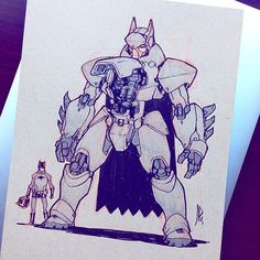 The Bat-Mech!  Commission I did for @wheels9696 at Denver Comic Con this weekend. by jakeparker