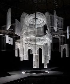 edoardo tresoldi suspends wire mesh structure for marcelo burlon's fashion show - edoardo tresoldi suspends wire mesh structure for marcelo burlon's fashion show - Fashion Show Makeup, Fashion Show Themes, Chanel Fashion Show, Fashion Show Dresses, Fashion Show Party, Kids Fashion Show, Versace Fashion, Vs Fashion Shows, Fashion Show Collection