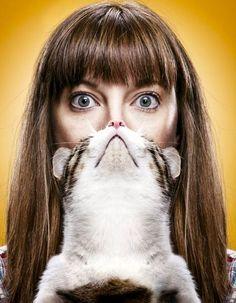 Girl Cat Beard by Timothy
