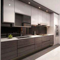 Resultado de imagen de singapore interior design kitchen modern classic kitchen partial open