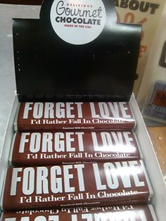 """She would rather fall in chocolate than fall in love, especially with me..."" I need one of these. Now."