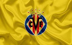 Scarica sfondi Villarreal FC, club di calcio professionistico, emblema, logo, Liga, Villarreal, Spagna, LFP, spagnolo Campionati di Calcio