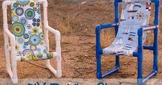 J'ai trouvé un tuto super original, pour fabriquer une chaise enfant , avec des tuyaux pvc! Le montage est simplissime, il suffit d'e...