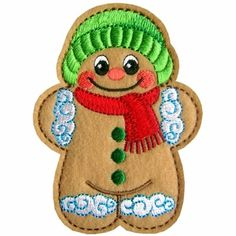 Gingerbread  Machine Embroidery Designs Treat Bags PES etc #GoldenNeedleDesigns