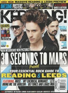 Kerrang magazine Jared Leto 30 Seconds to Mars Reading and Leeds Blink 182