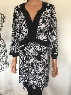 Style & Company Women Tunic 2x  Plus Size Designer Fashion Chic Black White   | eBay