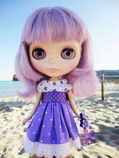 lilac and purple. Love this dress.