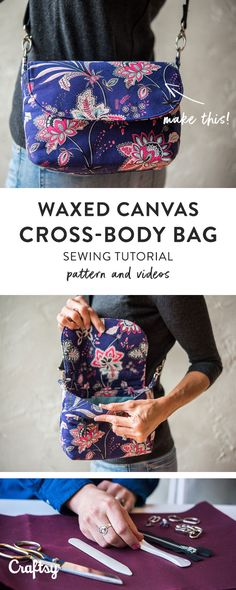 You'll want to take this cute little cross body bag on all of your errands! Get the pattern and learn how to sew it with instructional videos at Craftsy!