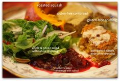 vegan, gluten free thanksgiving plate
