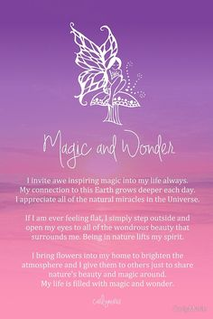 Affirmations: Magic and Wonder Affirmation | #Affirmations