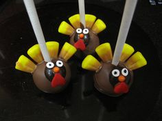Thanksgiving Turkey Upside Down Cake Pops