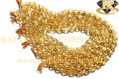 Citrine Faceted Drops (St. Drill) (Quality A) Shape: Drops Faceted Length: 36 cm Weight Approx: 20 to 22 Grms. Size Approx: 6.5x11 to 7.5x12 mm Price $31.36 Each Strand