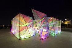 hou de sousa's iridescent prismatic installation in georgetown frames a myriad of perspectives - Contemporary Art Interaktives Design, Mawa Design, Interior Design, Modern Art, Contemporary Art, Contemporary Architecture, Architecture Design, Light Art Installation, Art Installations