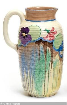 CLIFF Clarice,'Delecia Pansy' jug,Bonhams,London