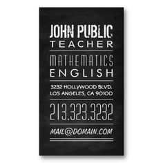 24 best tutor business card samples images on pinterest business teacher tutor chalkboard business card colourmoves