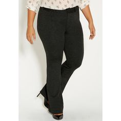 maurices Plus Size - The Skinny Knit Smart Ponte Pant In Charcoal ($44) ❤ liked on Polyvore featuring pants, capris, charcoal, plus size, stretch skinny pants, plus size knit pants, plus size pants, womens plus size pants and plus size ponte pants