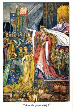 illustration by Helen Jacobs from 'The Princess Ida's Golden Hair' by Viola Bayley Fom the book 'The Wings of the Morning' 1936