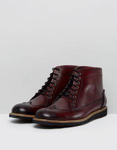 Original Penguin Creasy Brogue Boots in Bordo - Red ca57f340e2b