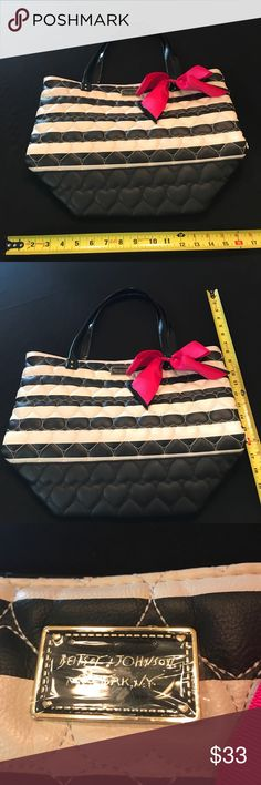 Betsey Johnson Purse. Worn twice. Betsey Johnson Purse. Worn twice. Excellent Condition. I got many compliments while wearing this one. Black & White. Betsey Johnson Bags Shoulder Bags