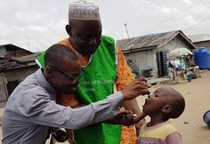 Five-year old Ajibola got his polio vaccination today on his way to a playdate